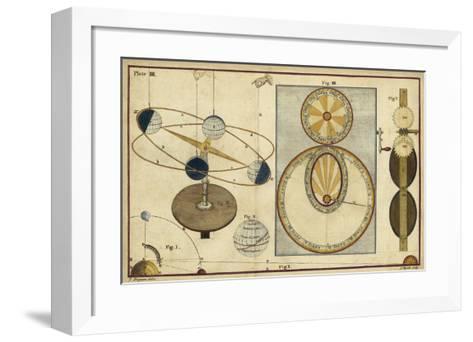 Distance of Sun, Moon & Planets-James Ferguson-Framed Art Print
