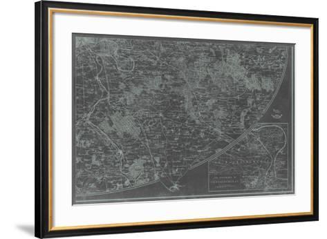 Map of Paris Grid IV-Vision Studio-Framed Art Print