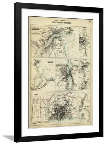 Map of the Coast of England III-Unknown-Framed Art Print