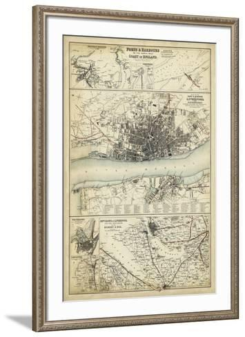 Map of the Coast of England IV-Unknown-Framed Art Print