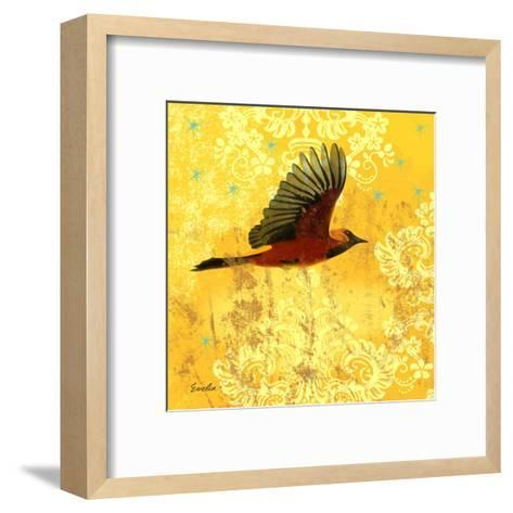 Oriole & Cartouche III-Evelia Designs-Framed Art Print