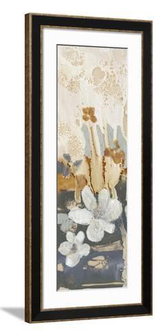 Drippy Flower Abstract I-Jennifer Goldberger-Framed Art Print