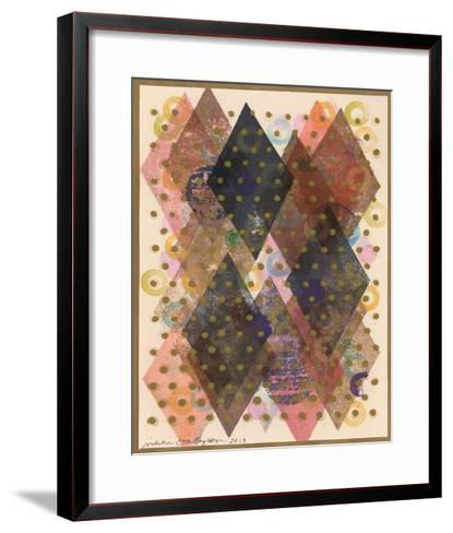 Inked Triangles I-Nikki Galapon-Framed Art Print