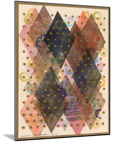 Inked Triangles I-Nikki Galapon-Mounted Giclee Print