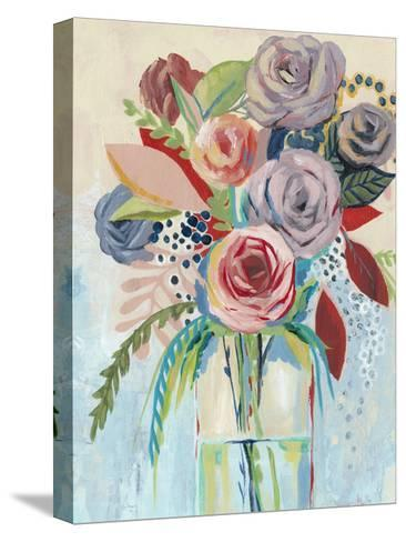 Roseate Posy I-Grace Popp-Stretched Canvas Print