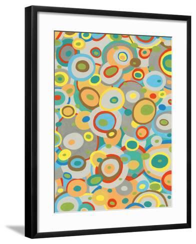 Overlapping Ovals II-Nikki Galapon-Framed Art Print