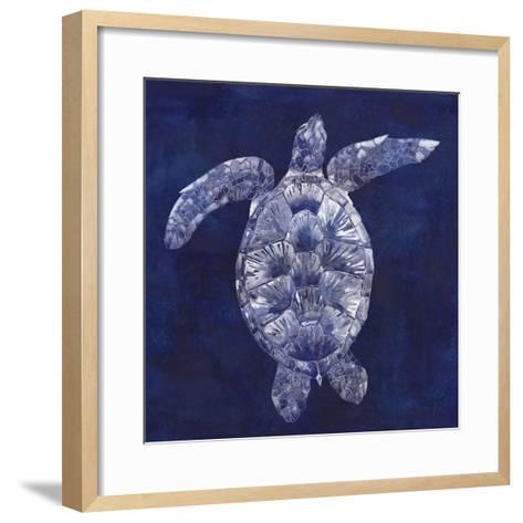 Sea Turtle Shadow II-Grace Popp-Framed Art Print