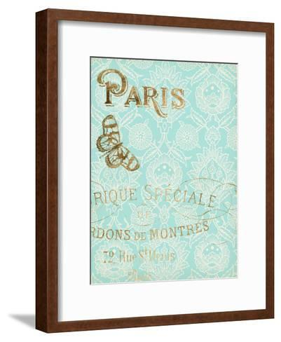 Paris in Gold I-Jennifer Goldberger-Framed Art Print