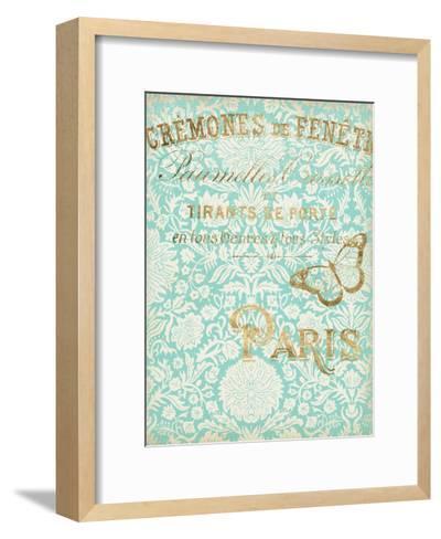 Paris in Gold II-Jennifer Goldberger-Framed Art Print