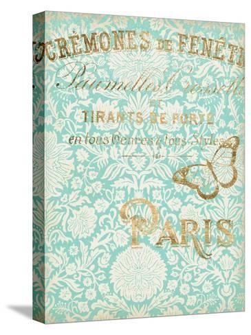Paris in Gold II-Jennifer Goldberger-Stretched Canvas Print