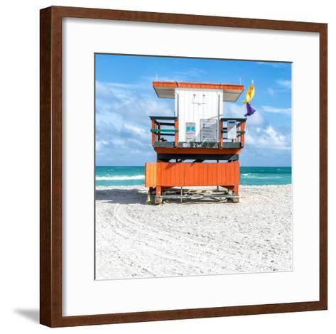Miami Beach I-Richard Silver-Framed Art Print