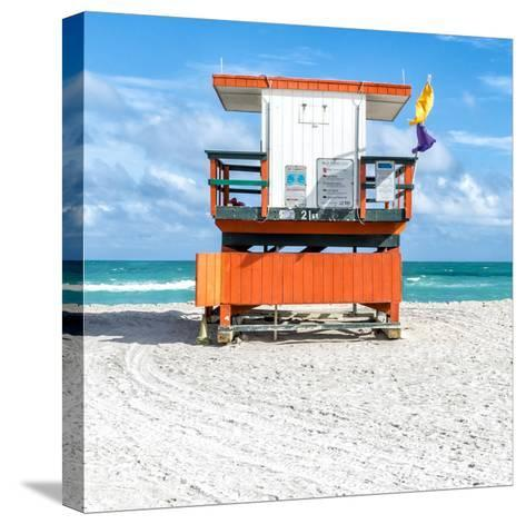 Miami Beach I-Richard Silver-Stretched Canvas Print