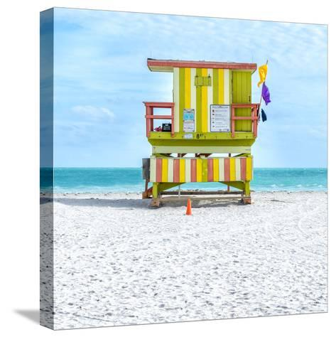 Miami Beach IX-Richard Silver-Stretched Canvas Print