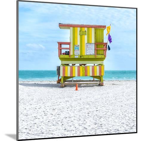 Miami Beach IX-Richard Silver-Mounted Art Print