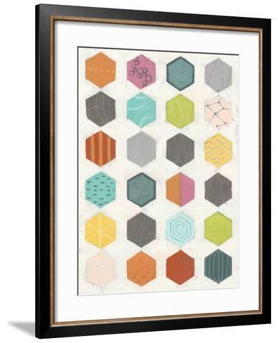 Pattern Interaction I-June Vess-Framed Art Print