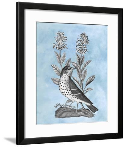 Bird on Blue I-Naomi McCavitt-Framed Art Print