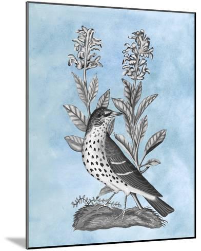 Bird on Blue I-Naomi McCavitt-Mounted Giclee Print