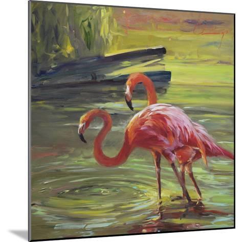Flamingo III-Chuck Larivey-Mounted Giclee Print