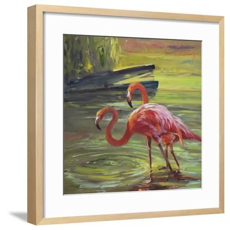 Flamingo III-Chuck Larivey-Framed Art Print