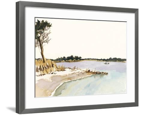 Minimalist Coastline I-Dianne Miller-Framed Art Print