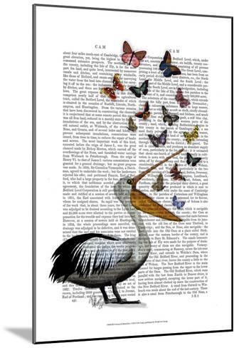 Pelican & Butterflies-Fab Funky-Mounted Art Print