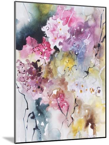 Blooms Aquas III-Leticia Herrera-Mounted Art Print