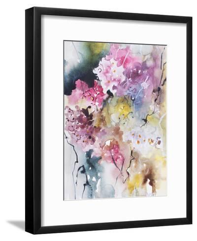 Blooms Aquas III-Leticia Herrera-Framed Art Print