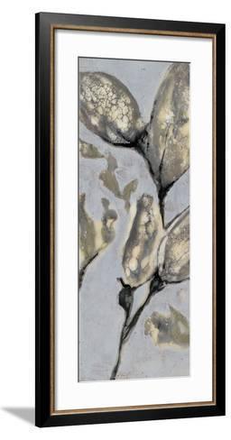 Flower Bud Triptych I-Jennifer Goldberger-Framed Art Print
