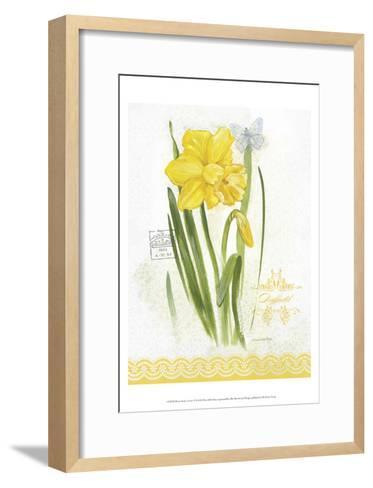 Flower Study on Lace V-Elissa Della-piana-Framed Art Print