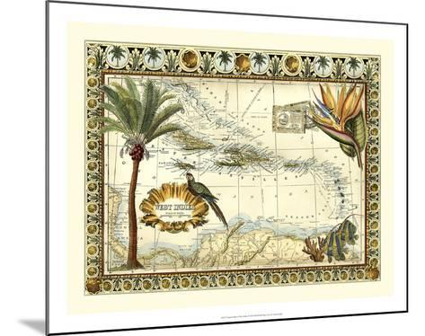 Tropical Map of West Indies-Vision Studio-Mounted Giclee Print
