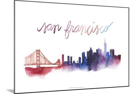 World Cities Skyline I-Grace Popp-Mounted Art Print
