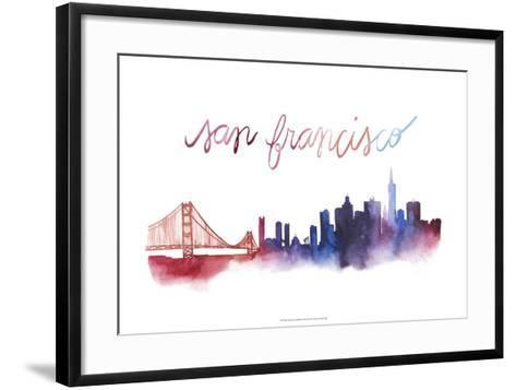 World Cities Skyline I-Grace Popp-Framed Art Print