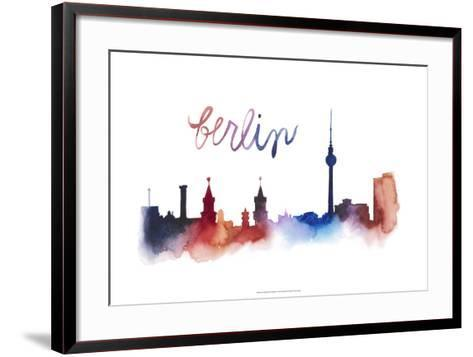 World Cities Skyline IV-Grace Popp-Framed Art Print