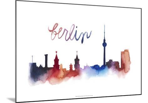 World Cities Skyline IV-Grace Popp-Mounted Art Print