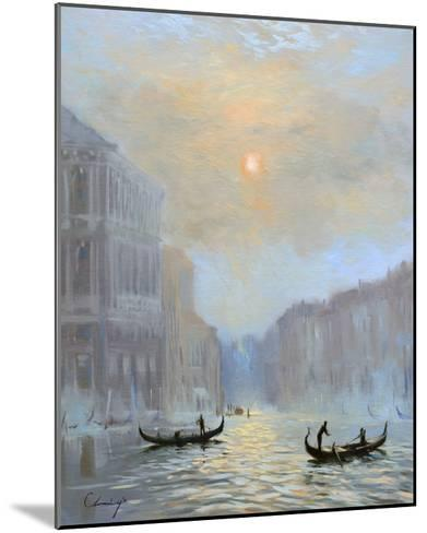 Venice Morning Mist-Chuck Larivey-Mounted Giclee Print