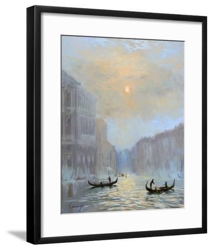 Venice Morning Mist-Chuck Larivey-Framed Art Print