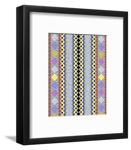 Vintage Stripe III-Katia Hoffman-Framed Art Print