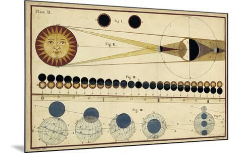 Total Eclipses of Sun & Moon's Shadow-James Ferguson-Mounted Giclee Print
