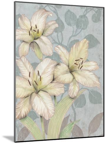 Trois Fleurs I-Tim OToole-Mounted Art Print