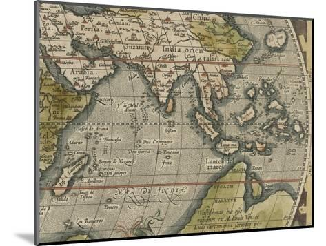 Antique World Map Grid VI-Vision Studio-Mounted Giclee Print
