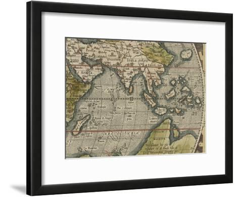 Antique World Map Grid VI-Vision Studio-Framed Art Print