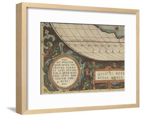Antique World Map Grid VII-Vision Studio-Framed Art Print