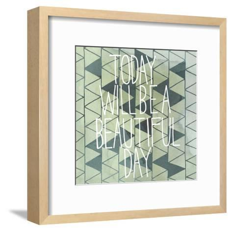 Arrow Typography I-Grace Popp-Framed Art Print