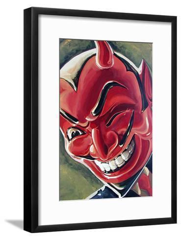 Devilish Grin-Mike Bell-Framed Art Print