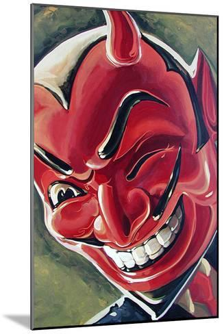 Devilish Grin-Mike Bell-Mounted Art Print