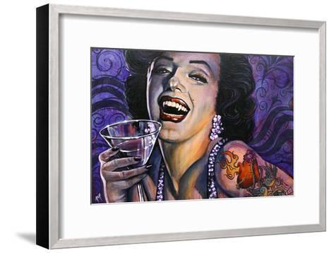 Marilyn Noir-Mike Bell-Framed Art Print