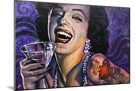 Marilyn Noir-Mike Bell-Mounted Art Print