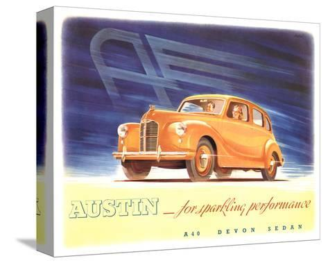 Austin - Sparkling Performance--Stretched Canvas Print