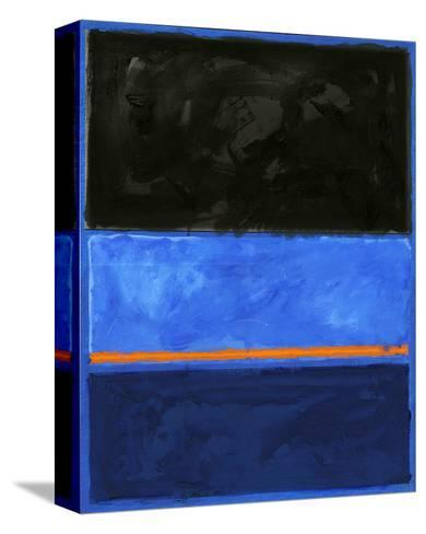 Black and Tangerine-Carmine Thorner-Stretched Canvas Print