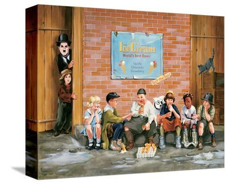 Chaplin Kid Alley Ice Cream-Renate Holzner-Stretched Canvas Print